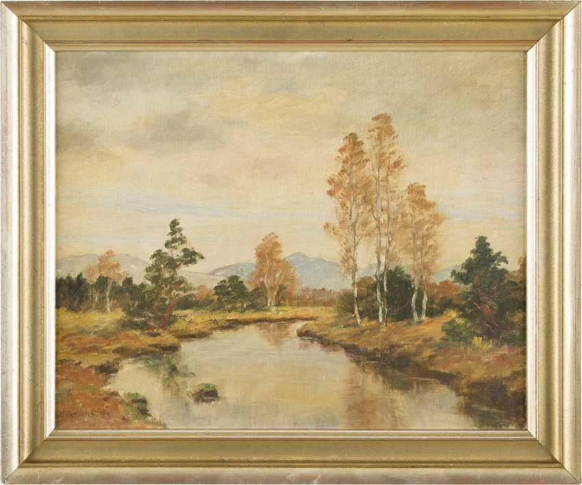 ADOLF KAPFHAMMER 1867 München - c.1911 Ebenda Flusslandschaft im Herbst - photo 2