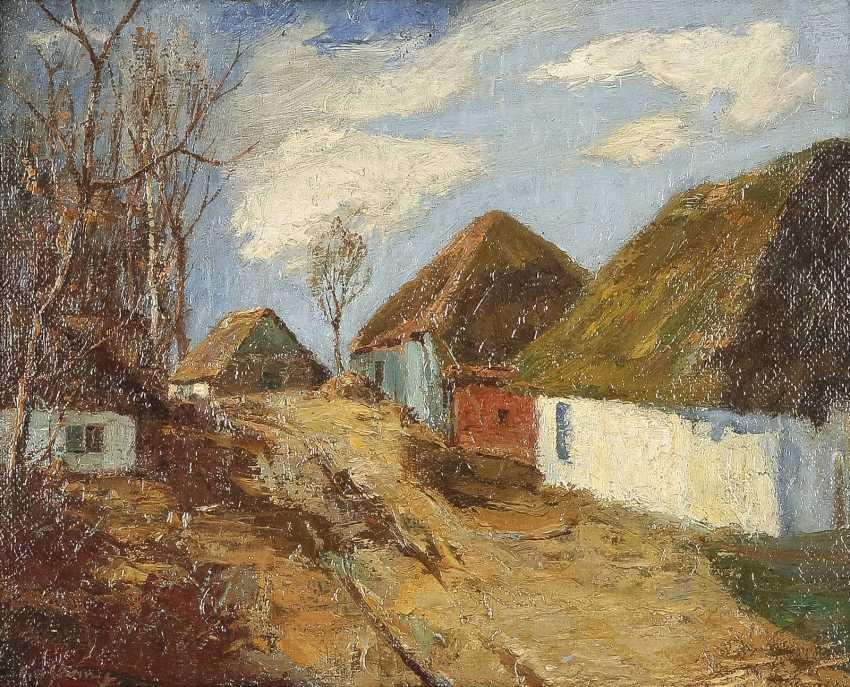 NORDDEUTSCHER LANDSCHAFTSMALER Tätig 1. Hälfte 20. Jahrhundert Bauerndorf an einem sonnigen Tag - photo 1