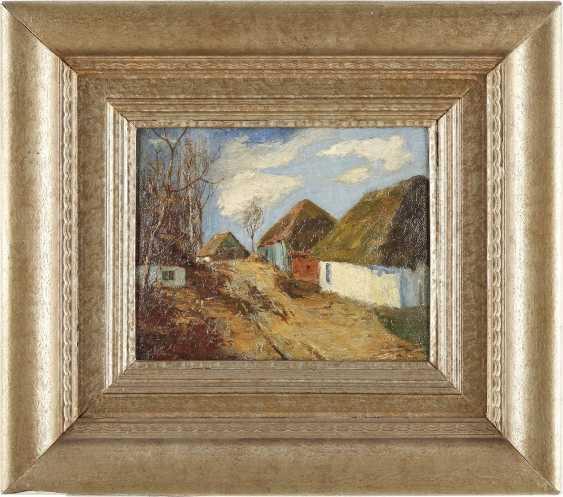 NORDDEUTSCHER LANDSCHAFTSMALER Tätig 1. Hälfte 20. Jahrhundert Bauerndorf an einem sonnigen Tag - photo 2
