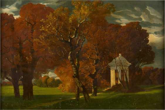 DEUTSCHER LANDSCHAFTSMALER Tätig um 1900 Park im Herbst - photo 1