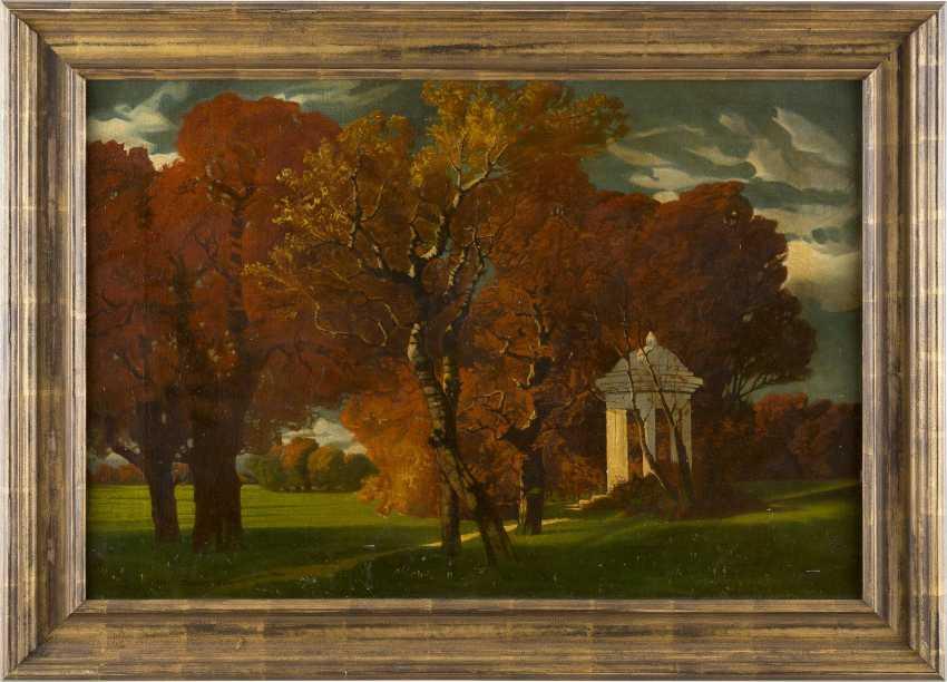DEUTSCHER LANDSCHAFTSMALER Tätig um 1900 Park im Herbst - photo 2