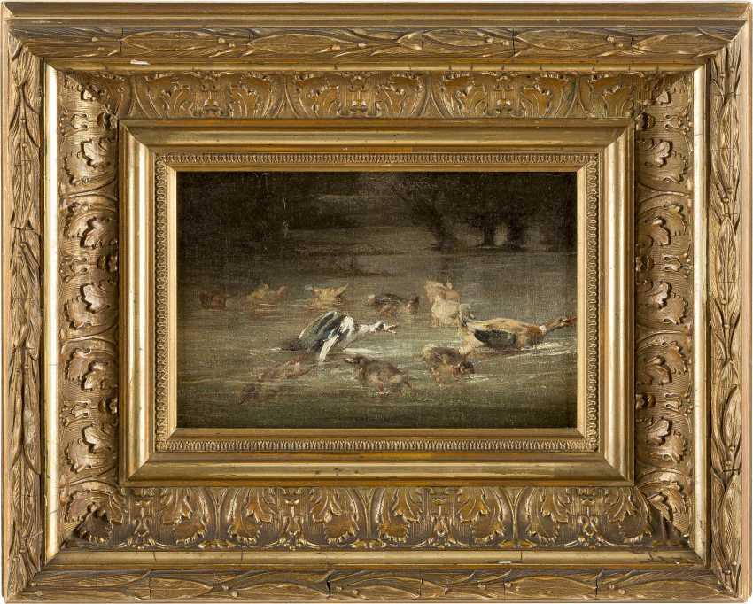 MERY Tätig um 1880 Enten auf dem Weiher - photo 2