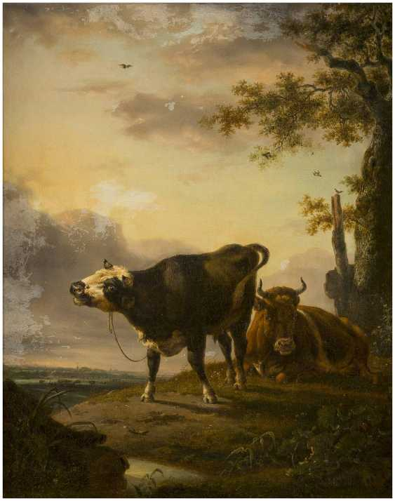 JAN BAPTIST KOBELL (UMKREIS) 1778 Delfshaven - 1814 Amsterdam Zwei rastende Kühe - photo 1