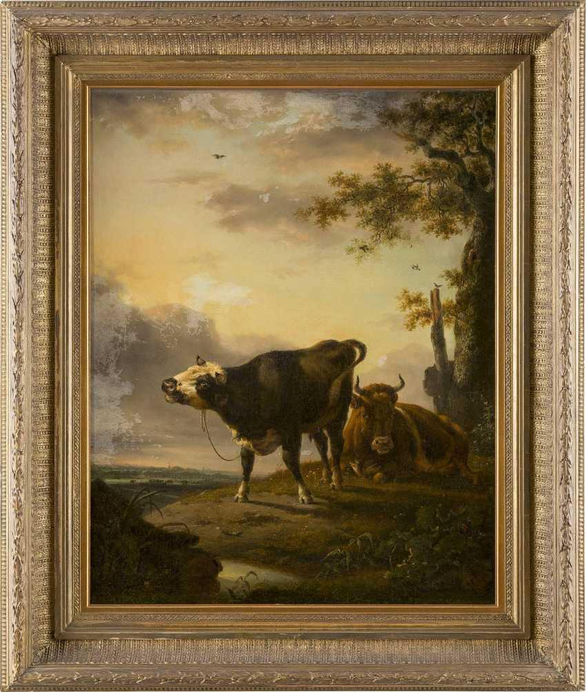 JAN BAPTIST KOBELL (UMKREIS) 1778 Delfshaven - 1814 Amsterdam Zwei rastende Kühe - photo 2