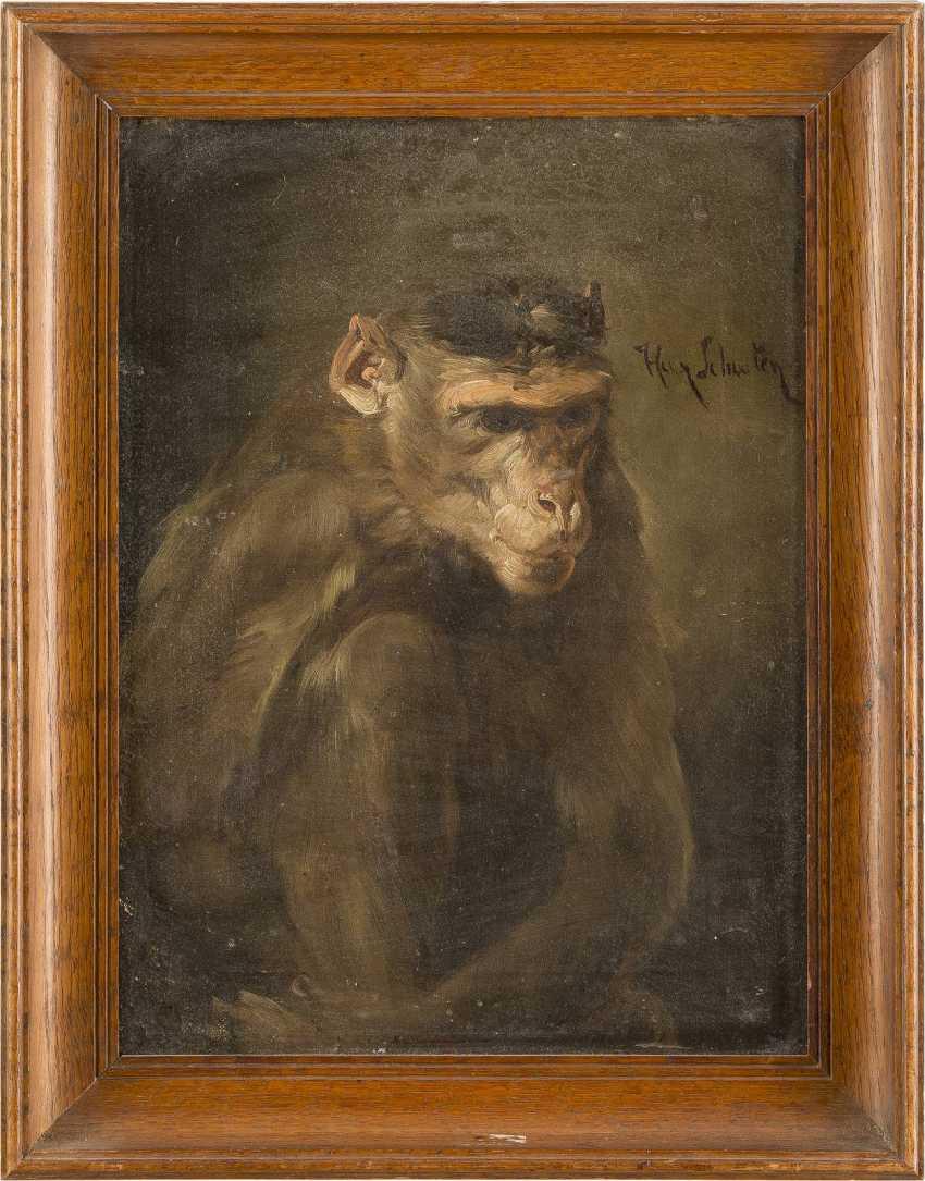 NIEDERLÄNDISCHER MEISTER Tätig um 1850 Grübelnder Affe - photo 2