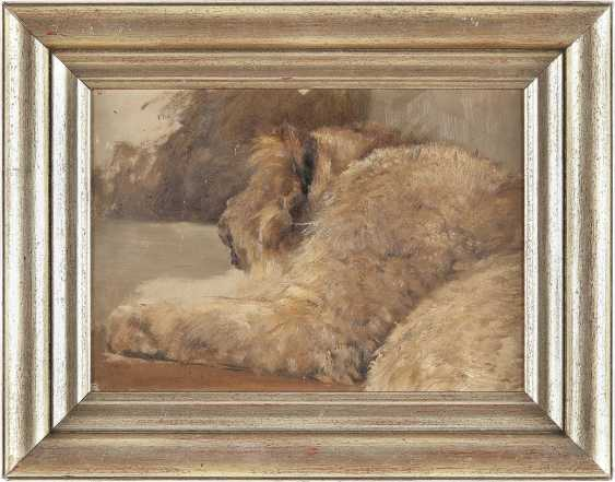 DEUTSCHER TIERMALER Tätig 1. H. 20. Jahrhundert Studie eines Löwenjungen - photo 2
