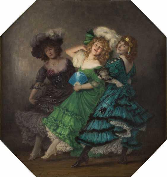 LUDWIG VON LANGENMANTEL 1854 - 1922 Drei Tänzerinnen - photo 1
