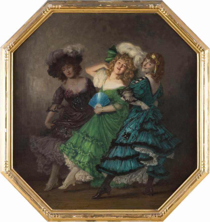 LUDWIG VON LANGENMANTEL 1854 - 1922 Drei Tänzerinnen - photo 2