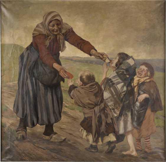 PETER JOHANN THEODOR JANSSEN 1844 Düsseldorf - 1908 ebenda Bäuerin mit Kindern - photo 1