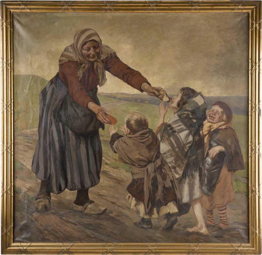 PETER JOHANN THEODOR JANSSEN 1844 Düsseldorf - 1908 ebenda Bäuerin mit Kindern - photo 2
