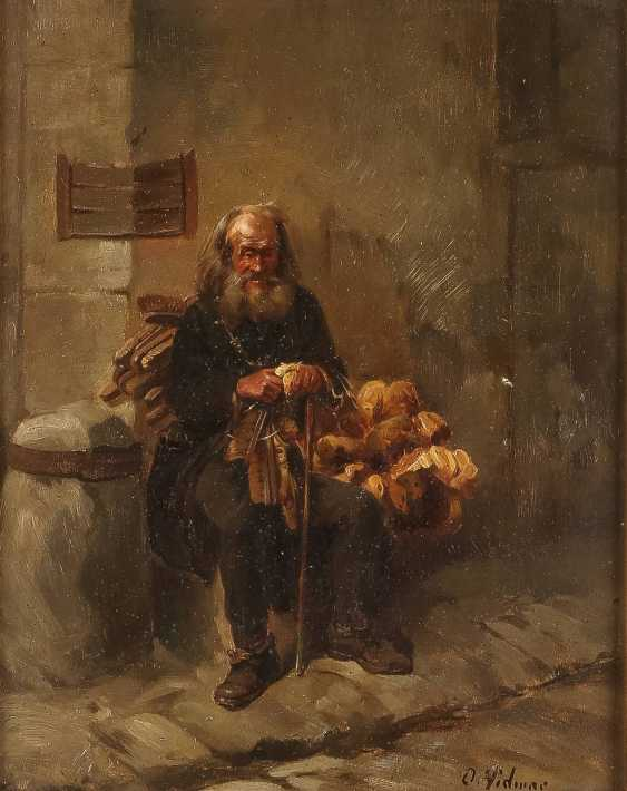 D. VIDMAR Tätig 1. Hälfte 20. Jahrhundert Ein alter Warenhändler - photo 1