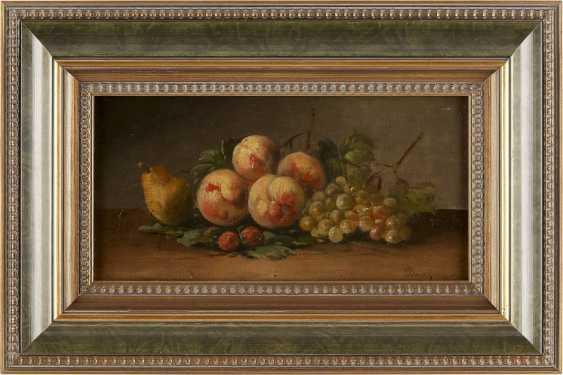 MAURICE-JEAN BOURGUIGNON (ATTR.) 1877 Frankreich - 1925 Konstantinopel Früchtestillleben mit Pfirsichen, Birne und Trauben - photo 2