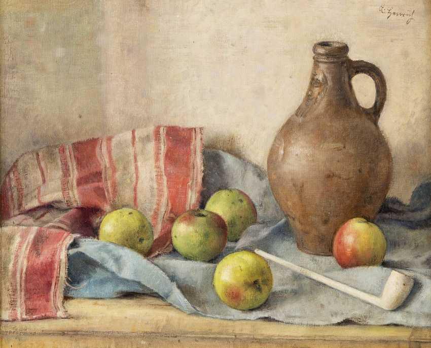 ALBERT HEINRICH 1899 - 1971 Stillleben mit Krug und Äpfeln - photo 1