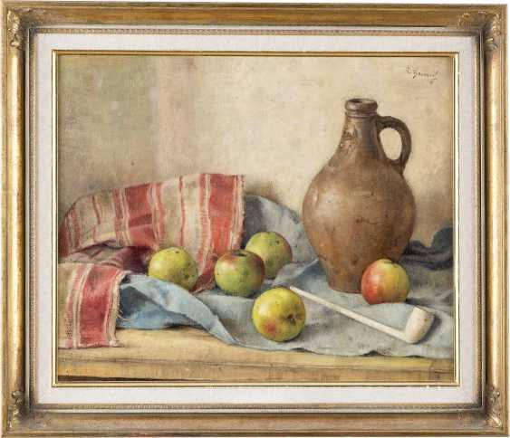 ALBERT HEINRICH 1899 - 1971 Stillleben mit Krug und Äpfeln - photo 2