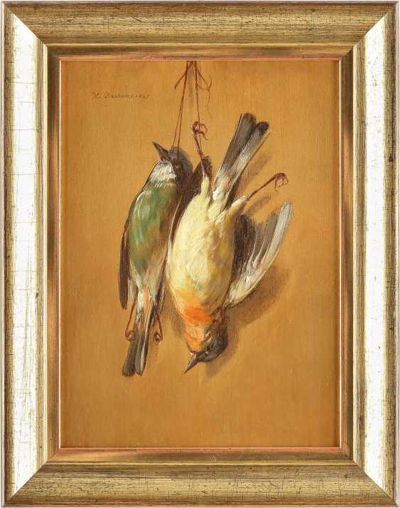 HENDRIK REEKERS (NACHFOLGE) 1815 Haarlem - 1854 ebenda Zwei Trompe-l`oeil mit toten Spatzen - photo 2