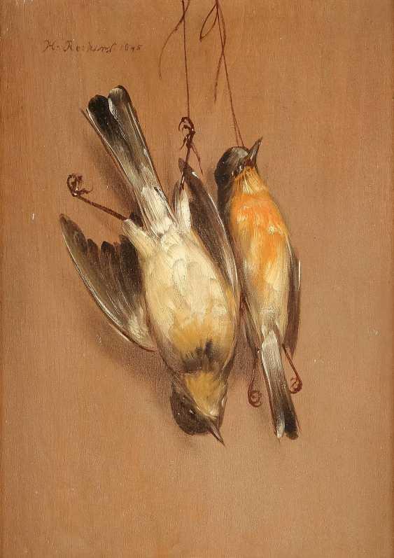 HENDRIK REEKERS (NACHFOLGE) 1815 Haarlem - 1854 ebenda Zwei Trompe-l`oeil mit toten Spatzen - photo 3