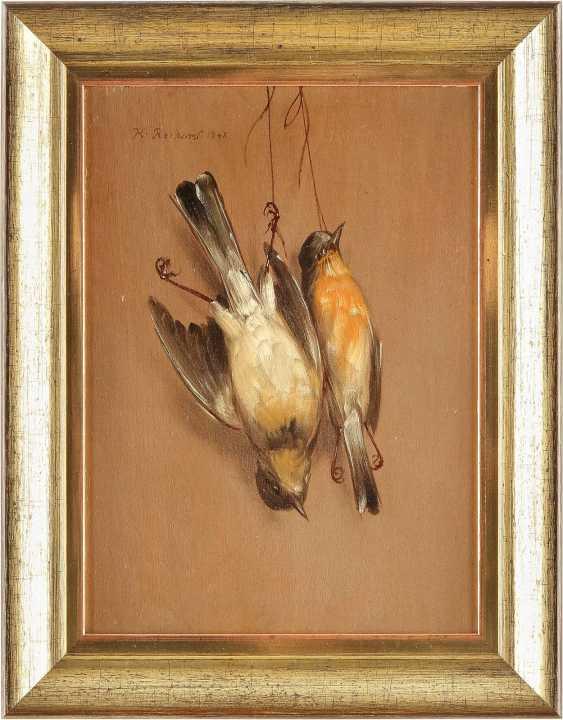 HENDRIK REEKERS (NACHFOLGE) 1815 Haarlem - 1854 ebenda Zwei Trompe-l`oeil mit toten Spatzen - photo 4