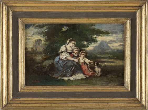 NARCISSE VIRGILIO DIAZ DE LA PENA (ATTR.) 1807 Bordeaux - 1876 Menton Mutter mit ihren Kindern - photo 2