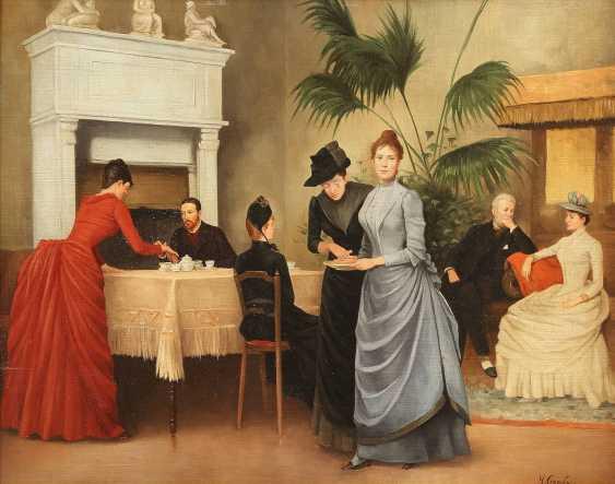 HENRI GERVEX (IM STIL VON) 1852 Paris - 1929 ebenda Im Salon - photo 1