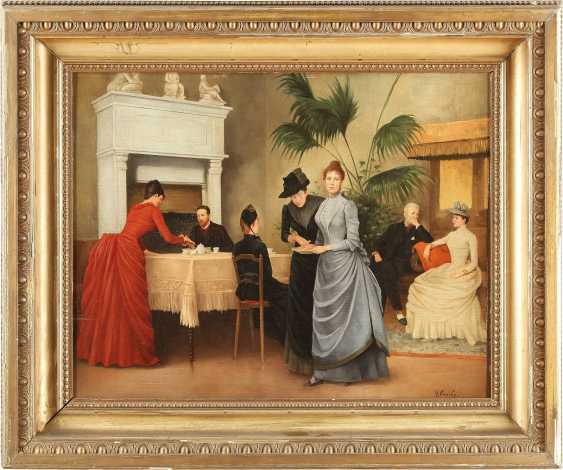 HENRI GERVEX (IM STIL VON) 1852 Paris - 1929 ebenda Im Salon - photo 2