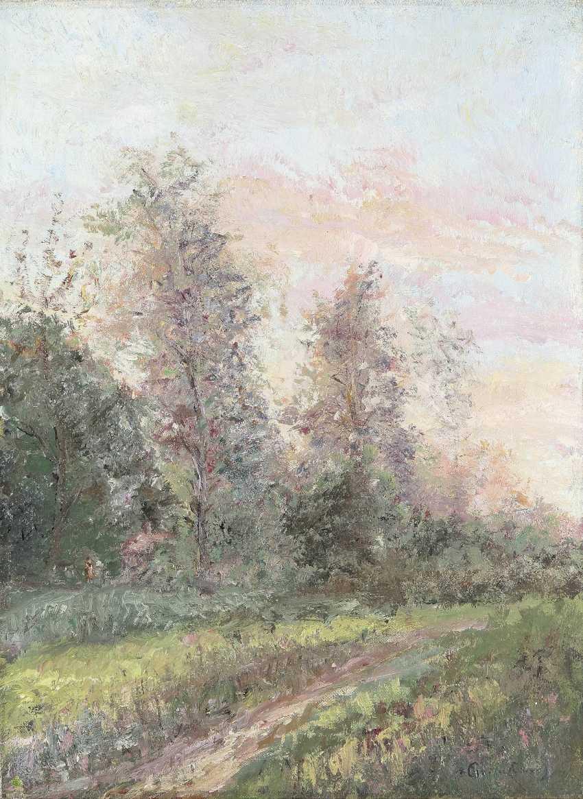 FRANZÖSISCHER IMPRESSIONIST Tätig um 1900 Stimmungsvolle Waldlandschaft - photo 1