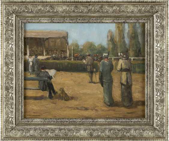 WILLEM VAARZON MOREL (ATTR.) 1868 - 1955 An der Pferderennbahn - photo 2