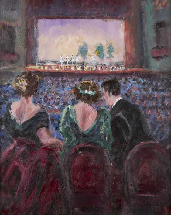 ULISSE CAPUTO 1872 Salerno - 1948 ebenda Blick auf das Ballett von der Theaterloge - photo 1