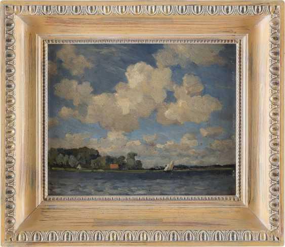 NIEDERLÄNDISCHER IMPRESSIONIST Tätig 1. Hälfte 20. Jahrhundert Wolkenstudie über Gewässer - photo 2
