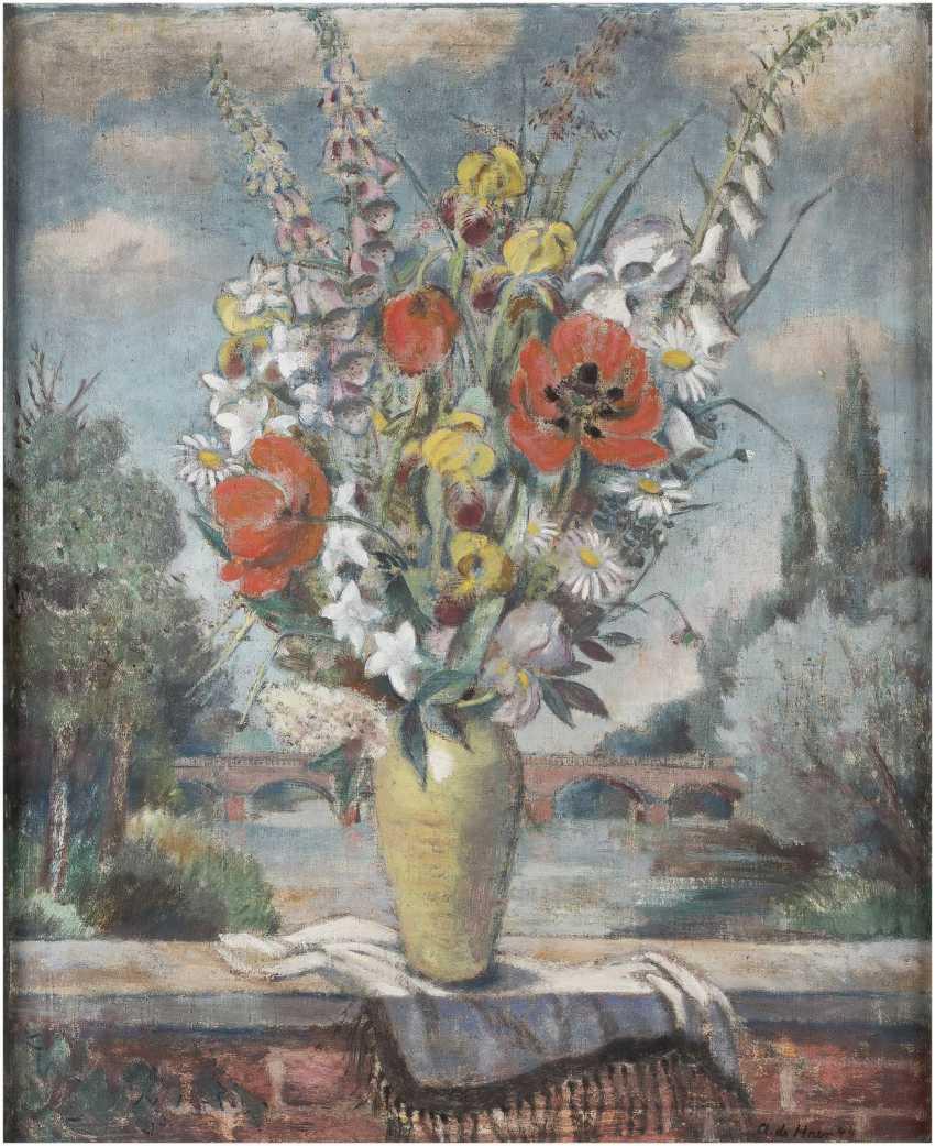 ADOLF DE HAER 1892 Düsseldorf - 1945 Osnabrück Blumenstillleben - photo 1