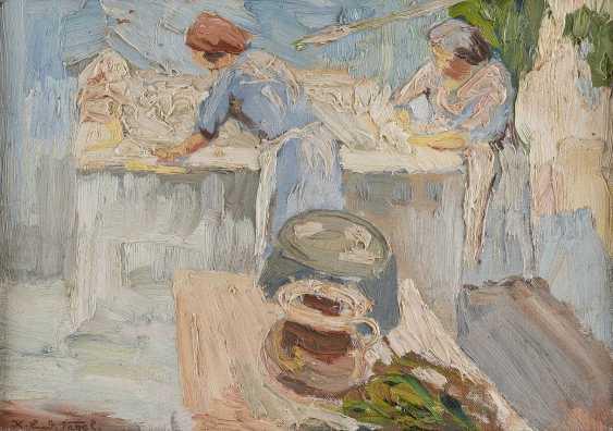 KARL LUDWIG NAGEL 1898 - 1959 Wäscherinnen (Sant-Oreste) - photo 1