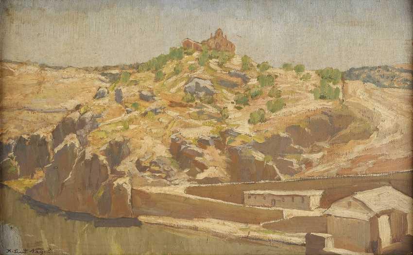 KARL LUDWIG NAGEL 1898 - 1959 Landschaft bei Toledo mit Blick auf den Rio Tajo und die Ermita de Nuestra Senora de la Cabeza - photo 1