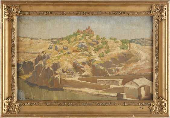 KARL LUDWIG NAGEL 1898 - 1959 Landschaft bei Toledo mit Blick auf den Rio Tajo und die Ermita de Nuestra Senora de la Cabeza - photo 2