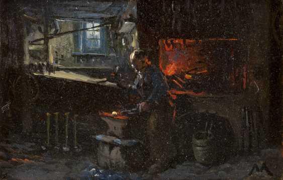 MONOGRAMMIST M Tätig 1. Hälfte 20. Jahrhundert Schmied in der Werkstatt - photo 1