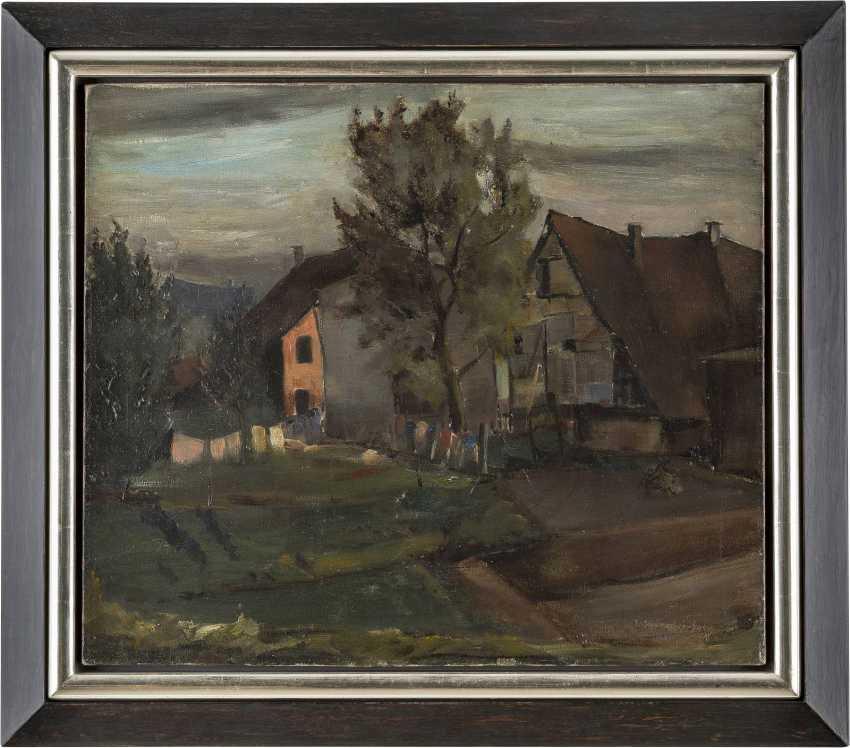 ERNST SCHUMACHER-SALIG 1905 Mönchengladbach - 1963 Berlin Bäuerlicher Hinterhof mit Wäscheleine - photo 2
