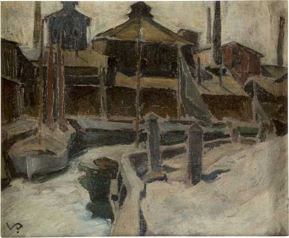 VILHELMS PURVITIS (ATTR.) 1872 Jürgensburg (Lettland) - 1945 Bad Nauheim Häuser am Kanal - photo 1
