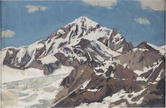 MONOGRAMMIST H Tätig um 1970 Verschneiter Berggipfel - photo 1
