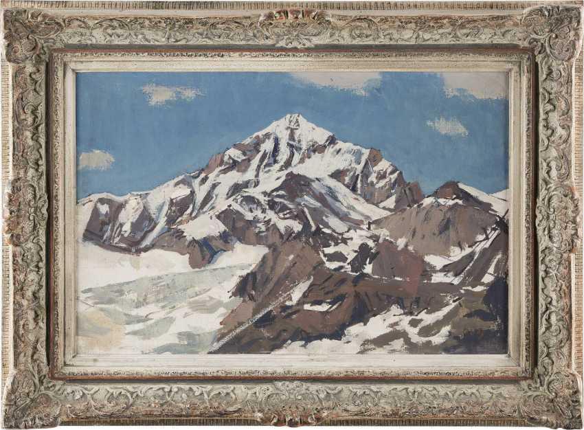 MONOGRAMMIST H Tätig um 1970 Verschneiter Berggipfel - photo 2
