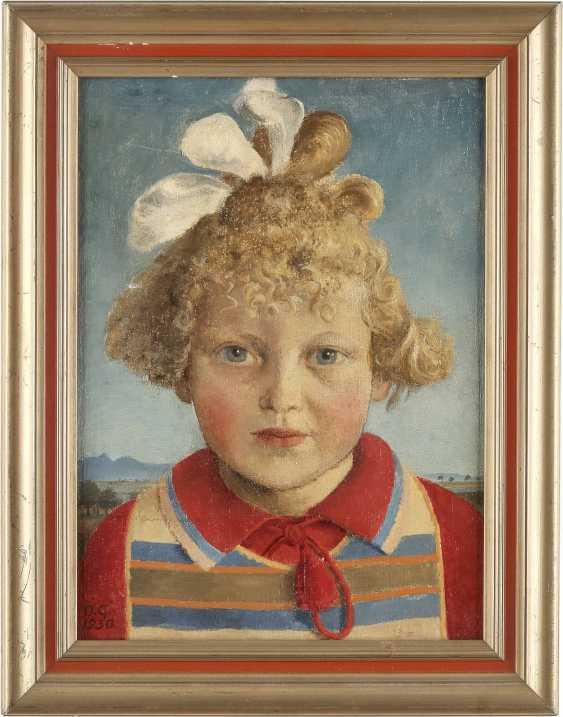 MONOGRAMMIST 'OG' Tätig um 1930. Mädchenporträt - photo 2