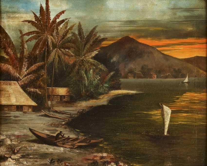 GLAESSNER Tätig 1. Hälfte 20. Jahrhundert Ansicht von Apia (Samoa) - Foto 1