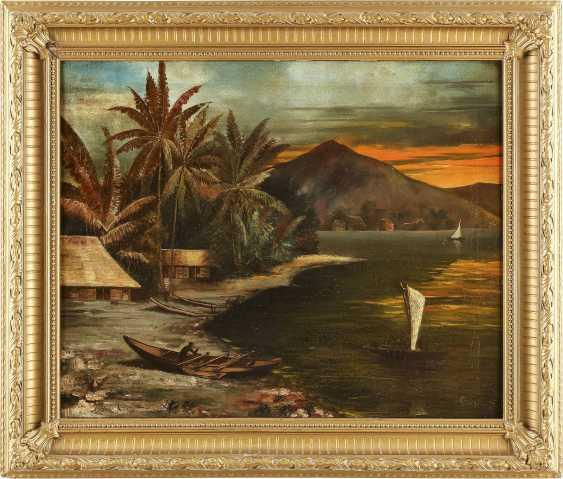GLAESSNER Tätig 1. Hälfte 20. Jahrhundert Ansicht von Apia (Samoa) - Foto 2