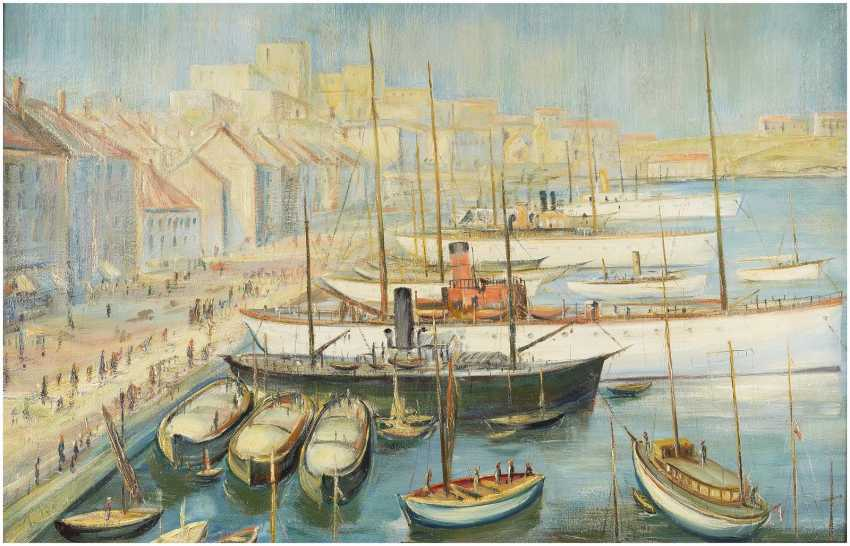 LORENZ BÖSKEN 1891 Geldern - 1967 Düsseldorf Im Hafen von Marseille - photo 1