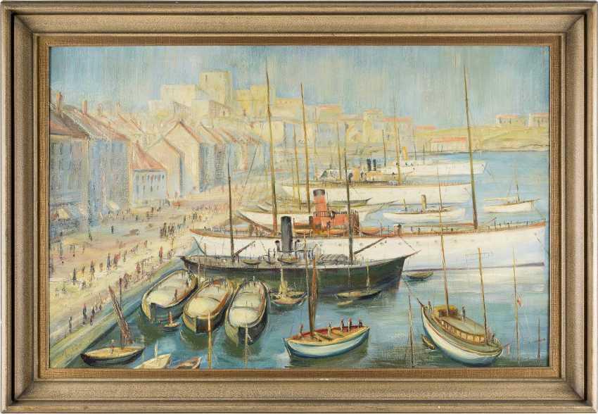 LORENZ BÖSKEN 1891 Geldern - 1967 Düsseldorf Im Hafen von Marseille - photo 2