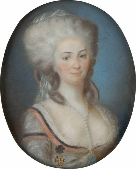 UNBEKANNTER BILDNISMALER Tätig 2. Hälfte des 18. Jahrhundert - photo 1