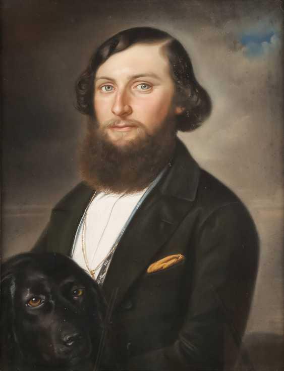 UNBEKANNTER BILDNISMALER Tätig 1. Hälfte des 19. Jahrhundert DREI PORTRAITS - photo 1