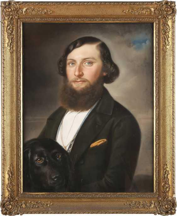 UNBEKANNTER BILDNISMALER Tätig 1. Hälfte des 19. Jahrhundert DREI PORTRAITS - photo 2