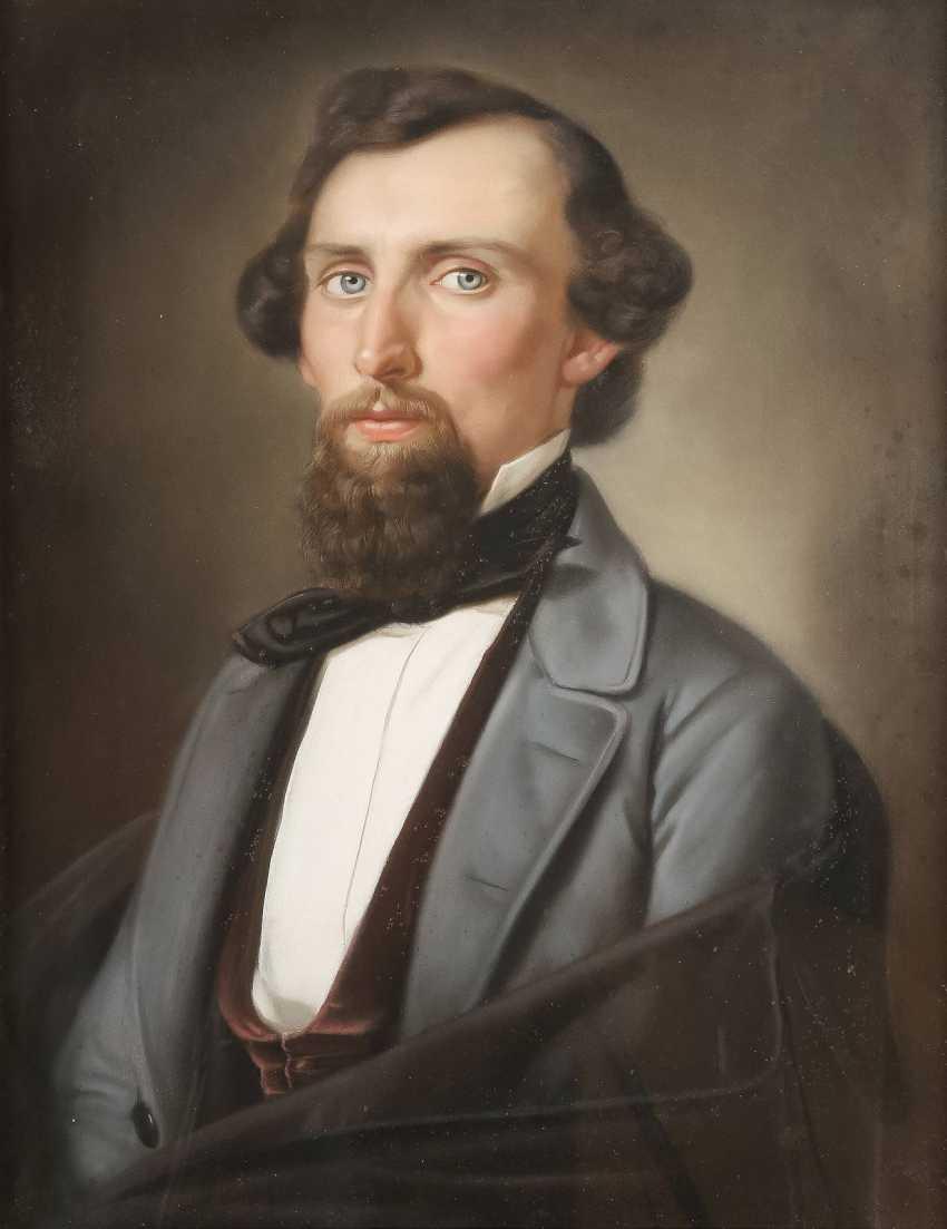 UNBEKANNTER BILDNISMALER Tätig 1. Hälfte des 19. Jahrhundert DREI PORTRAITS - photo 3