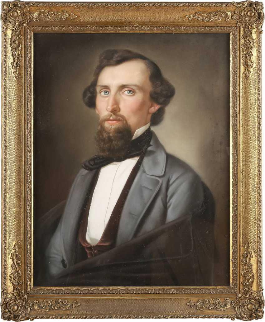 UNBEKANNTER BILDNISMALER Tätig 1. Hälfte des 19. Jahrhundert DREI PORTRAITS - photo 4