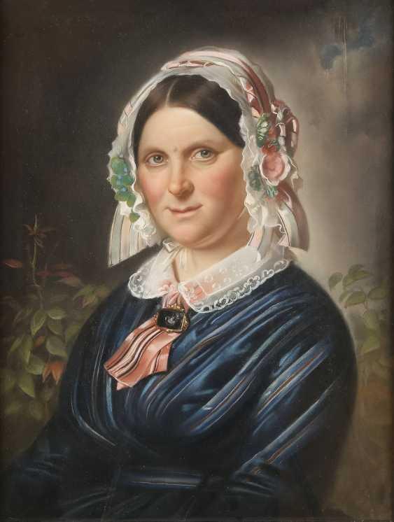 UNBEKANNTER BILDNISMALER Tätig 1. Hälfte des 19. Jahrhundert DREI PORTRAITS - photo 5