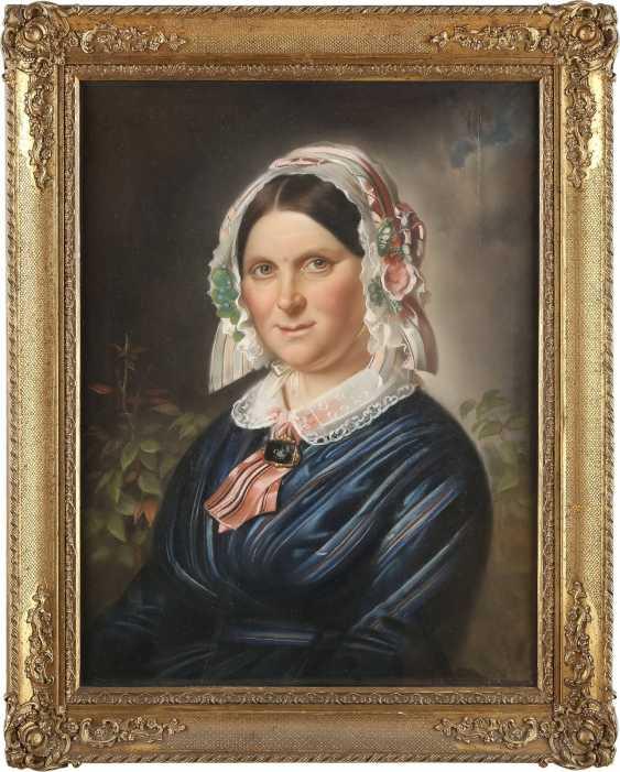 UNBEKANNTER BILDNISMALER Tätig 1. Hälfte des 19. Jahrhundert DREI PORTRAITS - photo 6