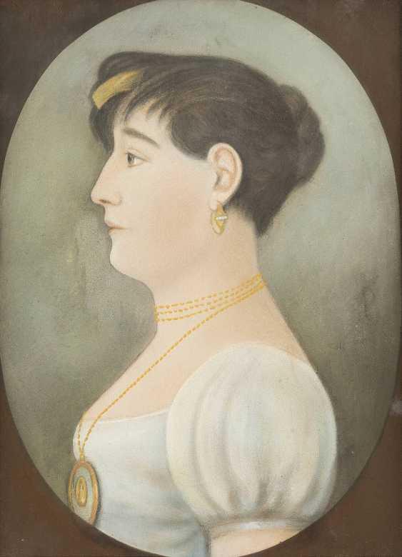 UNBEKANNTER PORTRAITIST Tätig im 19. Jahrhundert - photo 1